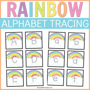 Rainbow Alphabet Tracing Cards