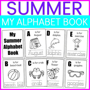 Summer Alphabet Tracing Book