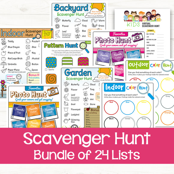 printable scavenger hunts for kids