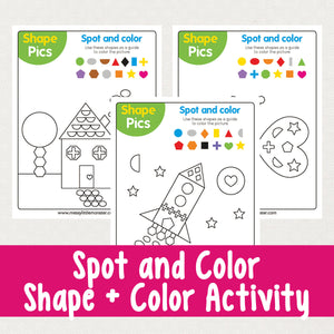Spot the Shape and Color Activity