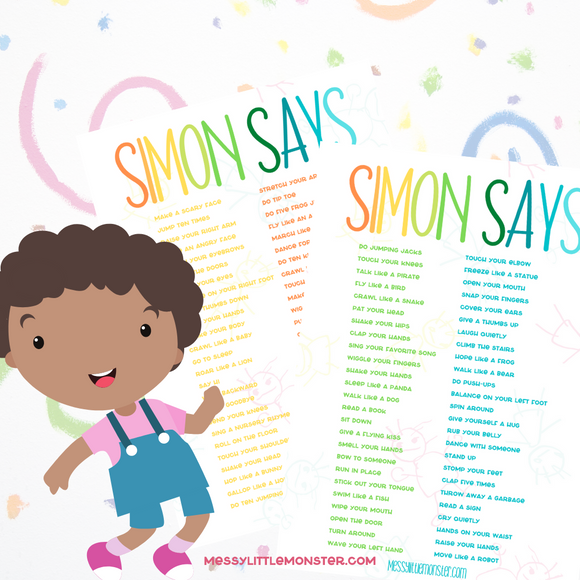 Simon Says Ideas List