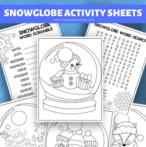 Snow Globe Coloring Pages