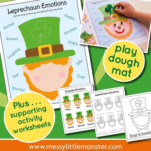 Leprechaun Emotions Activity Pack