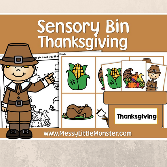Thanksgiving sensory bin printables