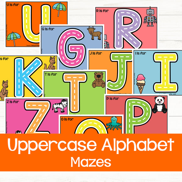 Uppercase alphabet playdough mats
