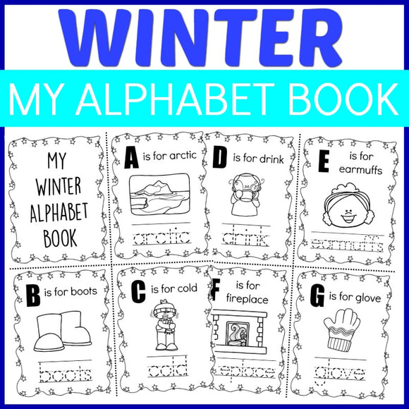 Winter Alphabet Tracing Book