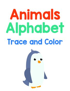 Animal Alphabet Book (trace and color)