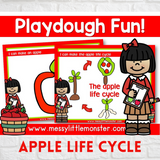 apple life cycle playdough mats