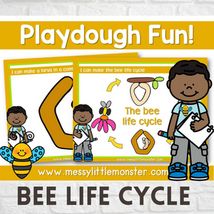 bee life cycle playdough mat activity