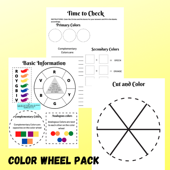 Color Wheel Printable Activities