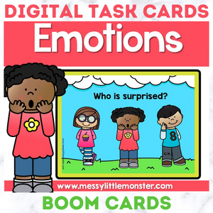 Emotions Digital Task Cards - Boom Cards