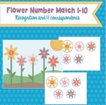 Flower Number Match 1-10