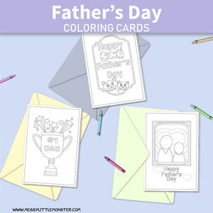 Father's Day Coloring Cards
