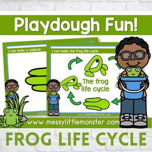 frog life cycle playdough mats