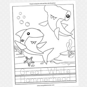 Great White Hammerhead Shark Coloring Page