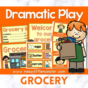 grocery shop dramatic play printables