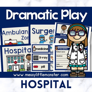 hospital pretend play printables