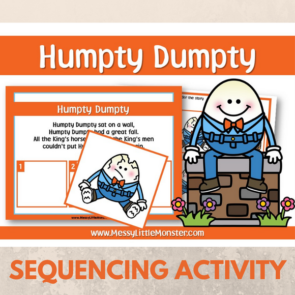 Humpty Dumpty - Nursery Rhyme Sequencing Activity