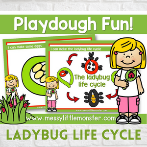 ladybug life cycle playdough mat activity for kids