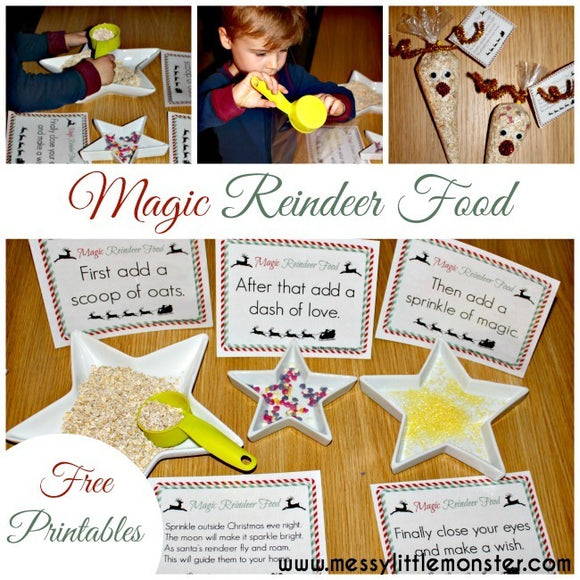 Magic Reindeer Food Poems and Signs