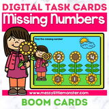 Missing Number Digital Task Cards - Boom Cards