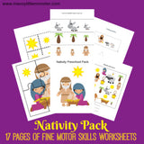Nativity Fine Motor Worksheets