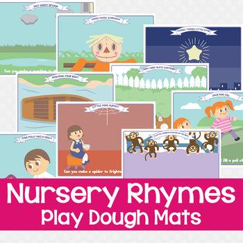 nursery rhyme play dough mats