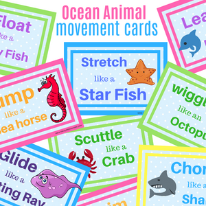 Ocean Animal Action Cards