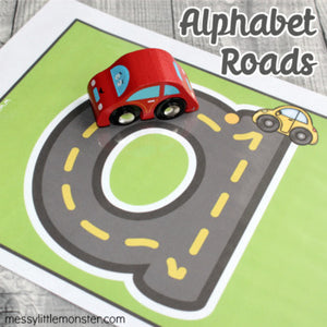 Alphabet Roads (lowercase and uppercase)