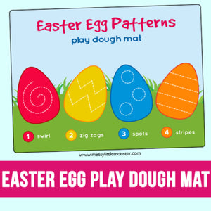 Easter egg playdough mats