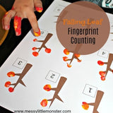 fall leaf fingerprint counting activity