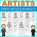 Great Artists Handwriting and Coloring Booklets
