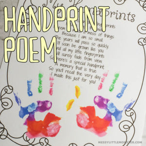 handprint poem printable