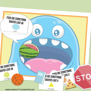 Feed the Monster! Shape Matching Activity