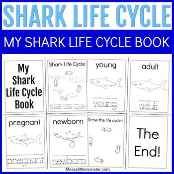 Shark Life Cycle Mini Coloring Book