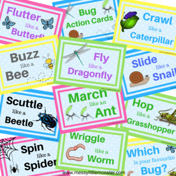 Bug Action Cards