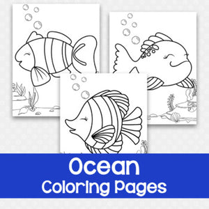 Set of 3 Ocean Coloring Pages