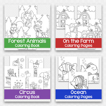 Animal Coloring Pages Bundle