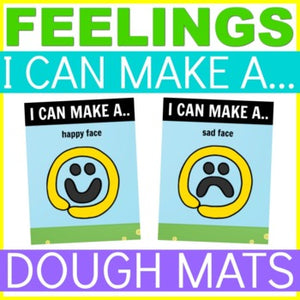 Emotions and feelings playdough mats activity