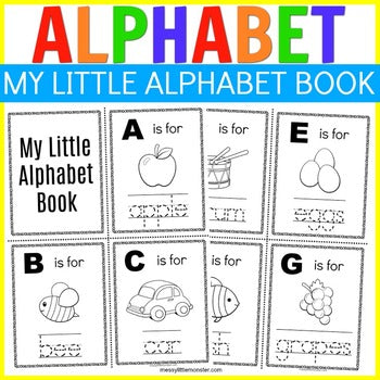My Little Alphabet Book (color and trace ABC booklet)