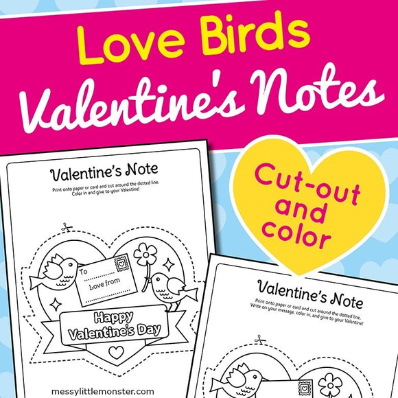 Printable Valentine's Day Notes