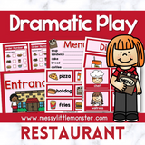 Restaurant Dramatic Play Printables