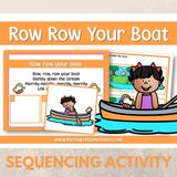 Row Row Your Boat - Nursery Rhyme Sequencing Activity