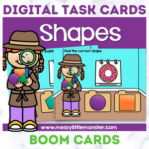 Shape Digital Task Cards - Boom Cards