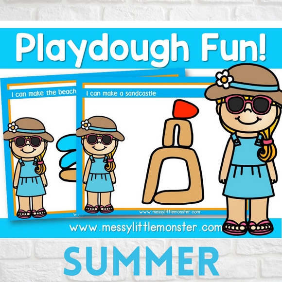 summer playdough mats