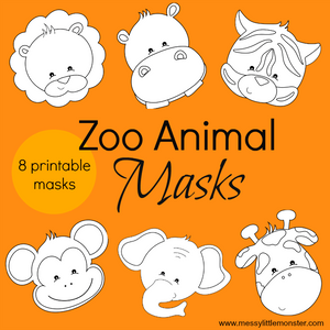 Zoo Animal Masks