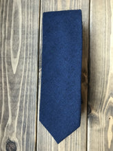 Load image into Gallery viewer, Navy Cotton Tie