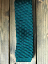 Load image into Gallery viewer, Racing Green Knitted Tie