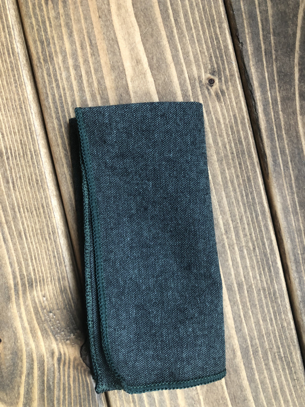 Forest Green Cotton Pocket Square