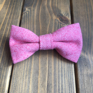 Junior Raspberry Pink Wool Bow Tie